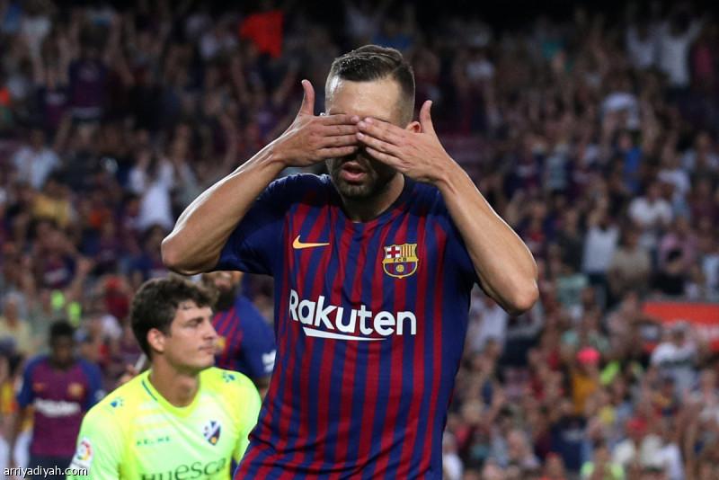 برشلونة يمزق شباك هويسكا بثمانية أهداف
